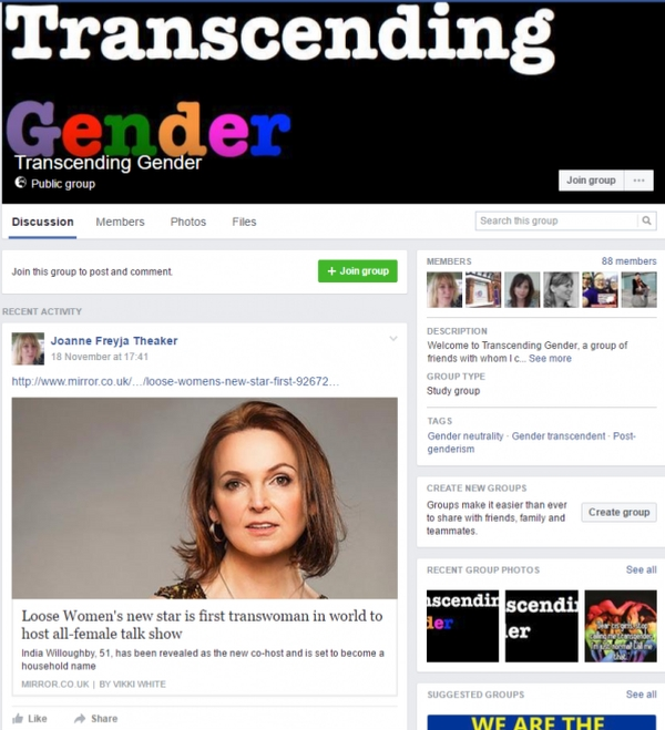 transcend Gender facebook page